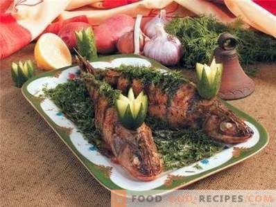 Pesce persico cotto al forno interamente
