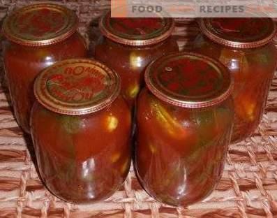 Cetrioli in concentrato di pomodoro per l'inverno