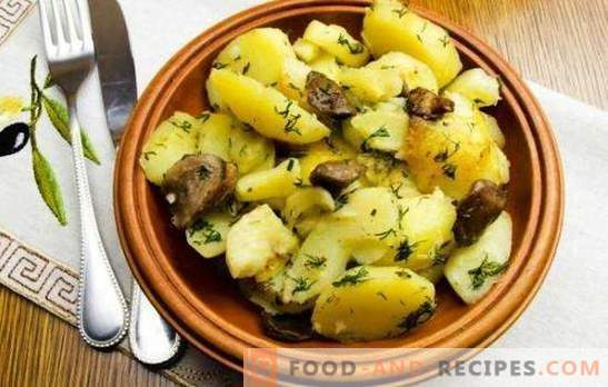 Cartofi cu ciuperci într-un aragaz lent - mai bine decât într-o tigaie. Cartofi cu ciuperci într-un aragaz lent: prăjite, tocate, coapte