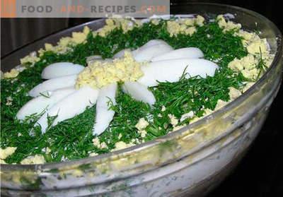 Insalata di camomilla: una selezione delle migliori ricette. Come correttamente e gustoso preparare l'insalata