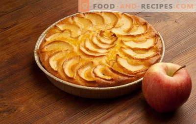Una torta semplice e veloce con mele, arance, ricotta. Le migliori ricette per una torta semplice con le mele per una mano veloce